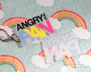 ANGRY and PAN Acrylic Charm