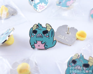 Angry Monster Enamel Pin