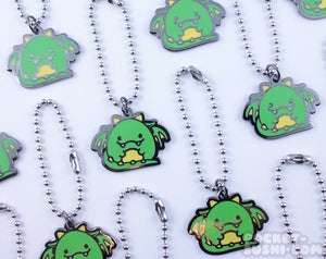Cute Chubby Green Dragon Metal Charm