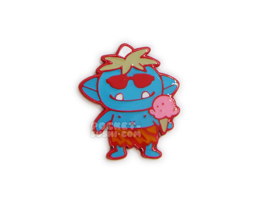 June 2019 Patreon Exclusive - Blue Summer Time Oni Enamel Pin
