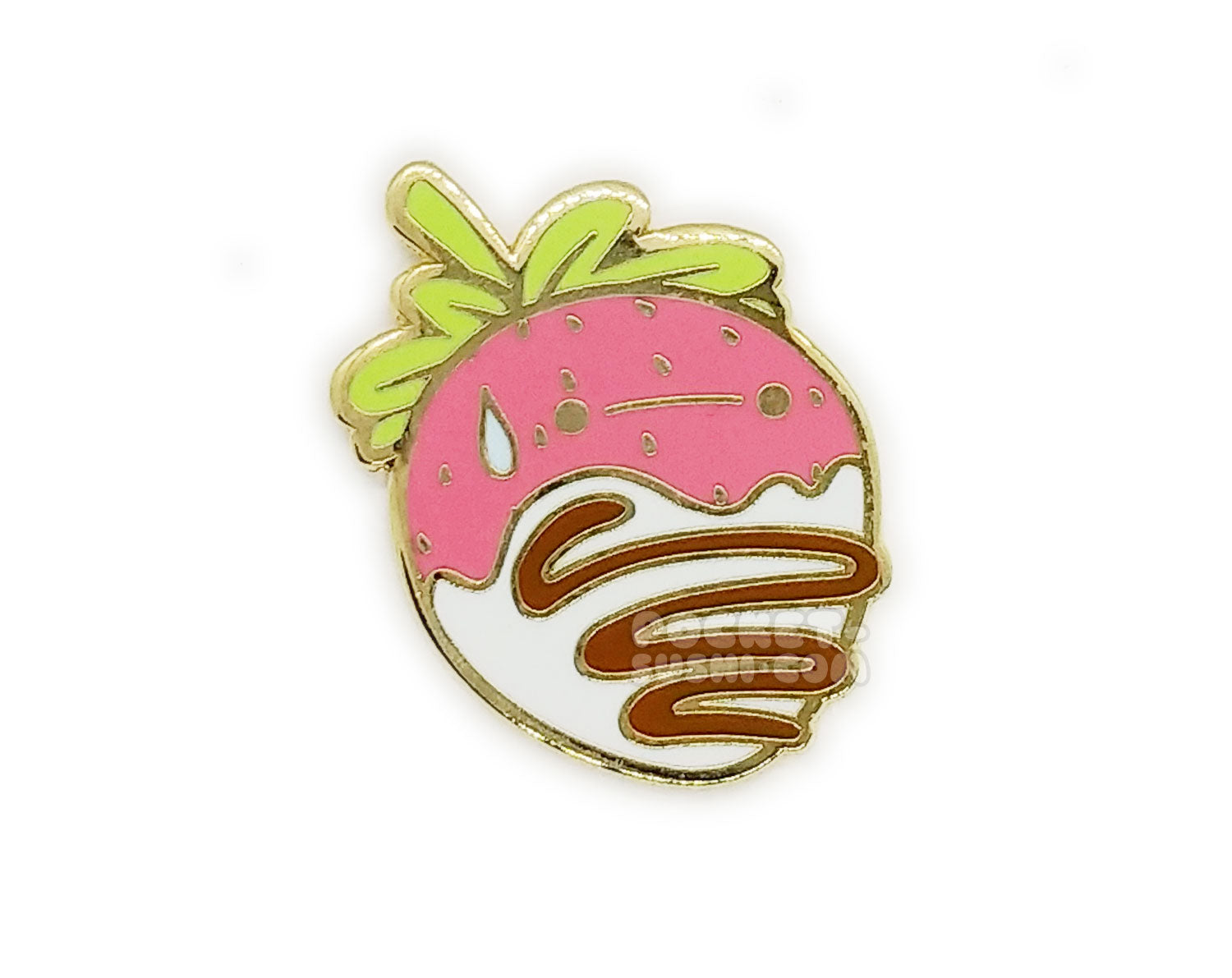 August 2019 Patreon Exclusive - White Chocolate Sweatberry Enamel Pin