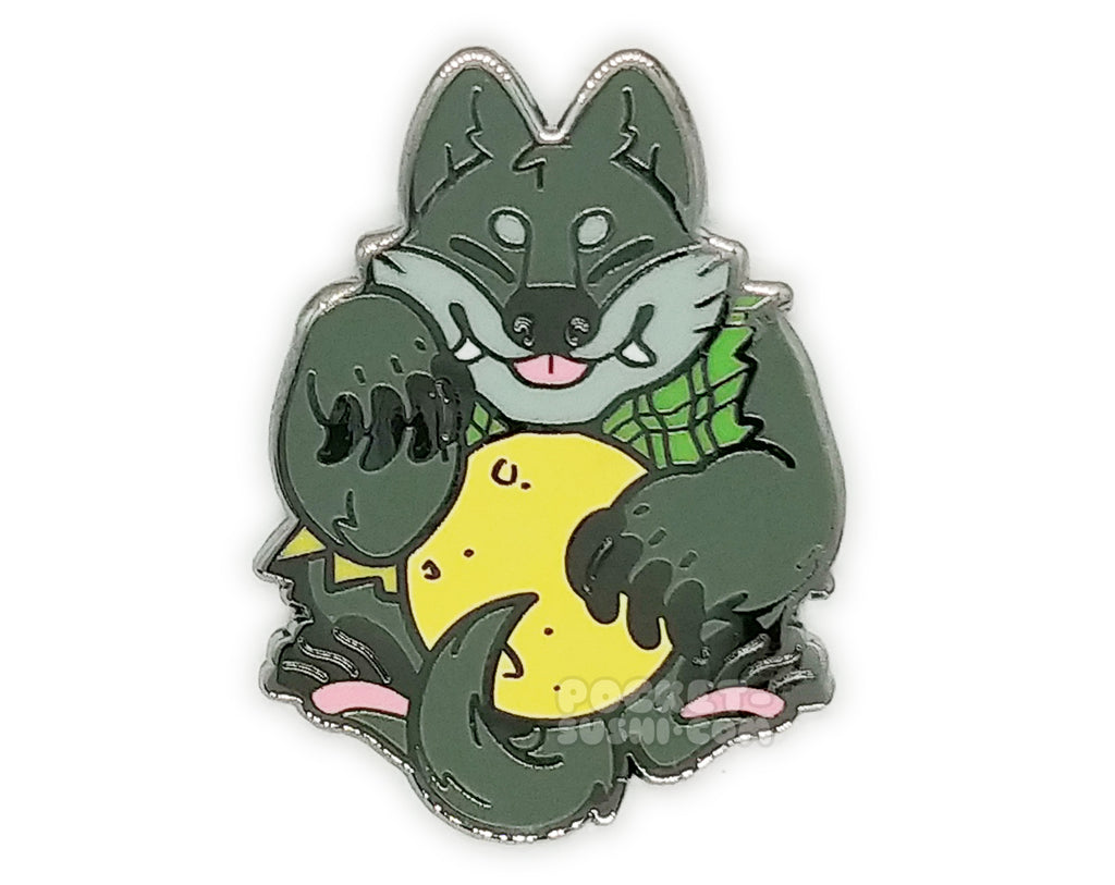 September 2019 Patreon Exclusive - Gray Beckoning Werewolf Enamel Pin