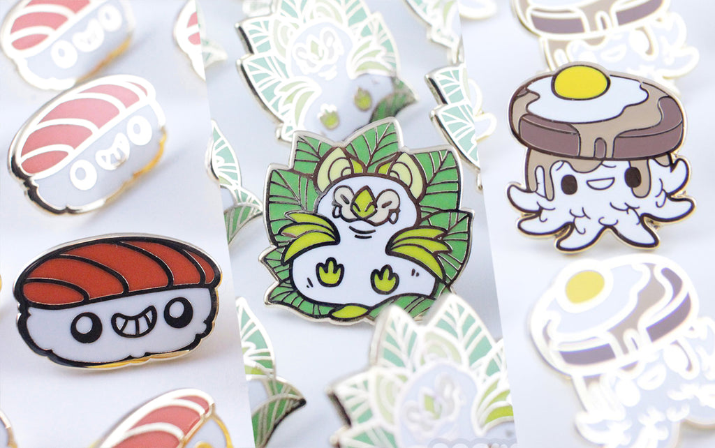5 Enamel Pins for $50