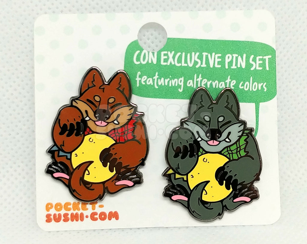 [SET] Beckoning Werewolf Glow-in-the-Dark Enamel Pins - Con Exclusive!