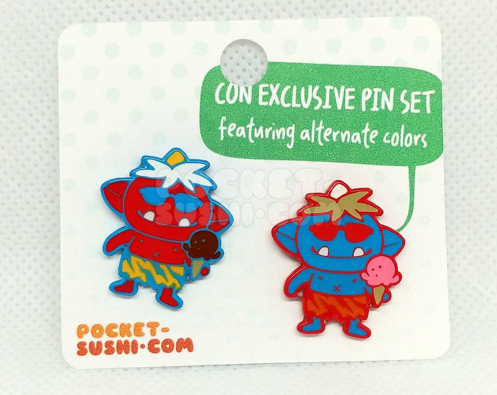 [SET] Summer Time Oni Enamel Pins - Con Exclusive!