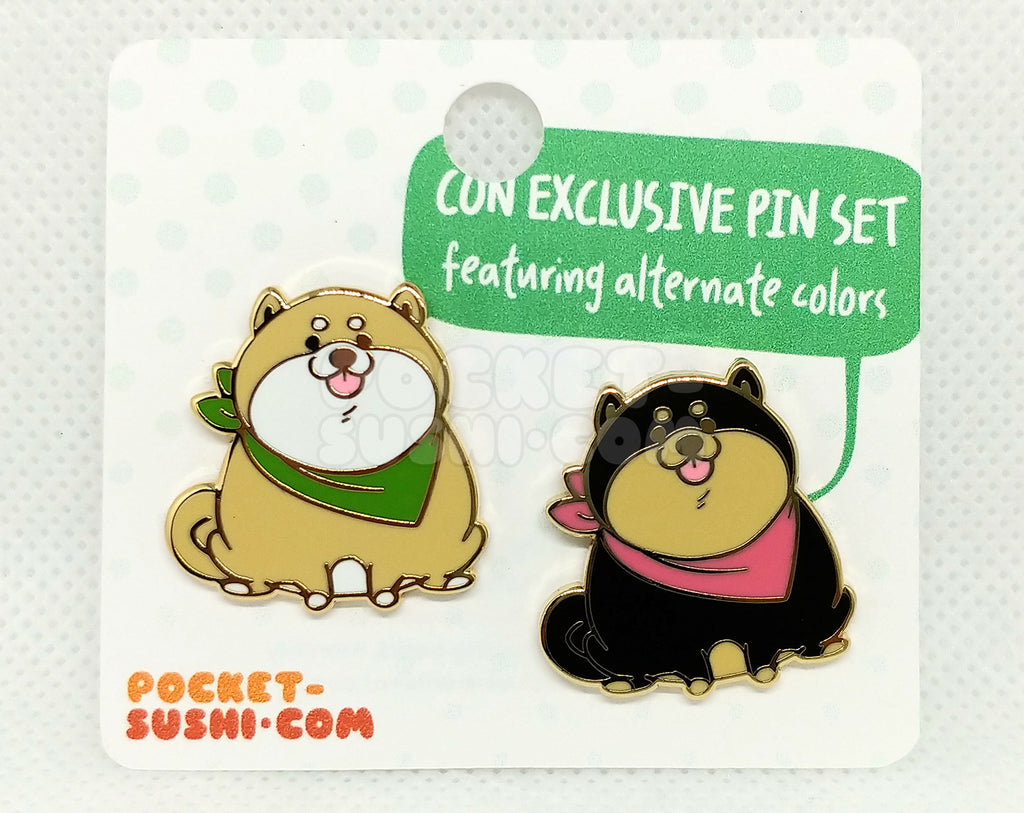 [SET] Fat Shiba Inu Enamel Pins - Con Exclusive!