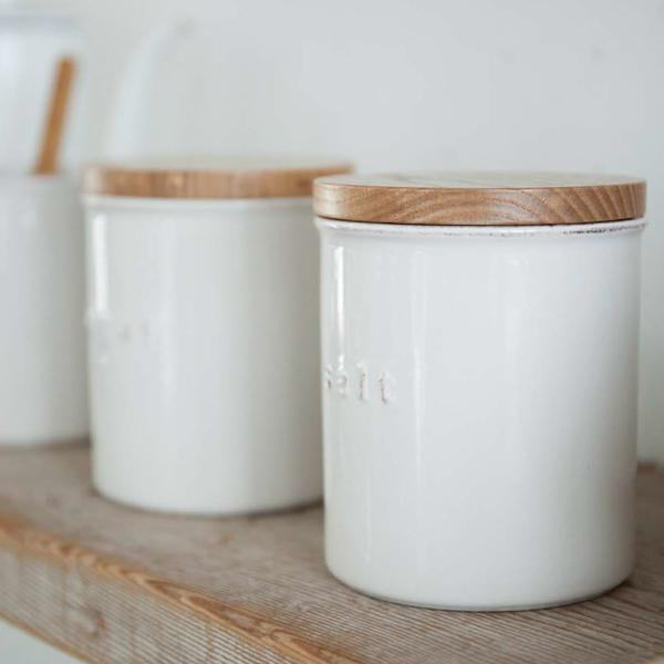 Ceramic Storage Containers Salt and Sugar
