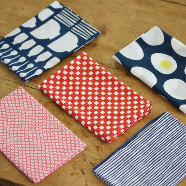 Japanese Dish kitchen Towels - tenugui