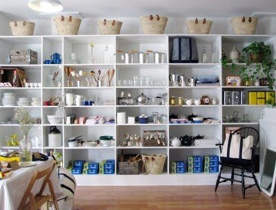 Brook Farm General Store modern general store white shelves and homewares