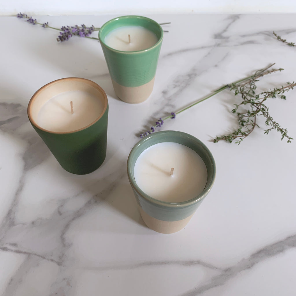 French Stoneware Candles