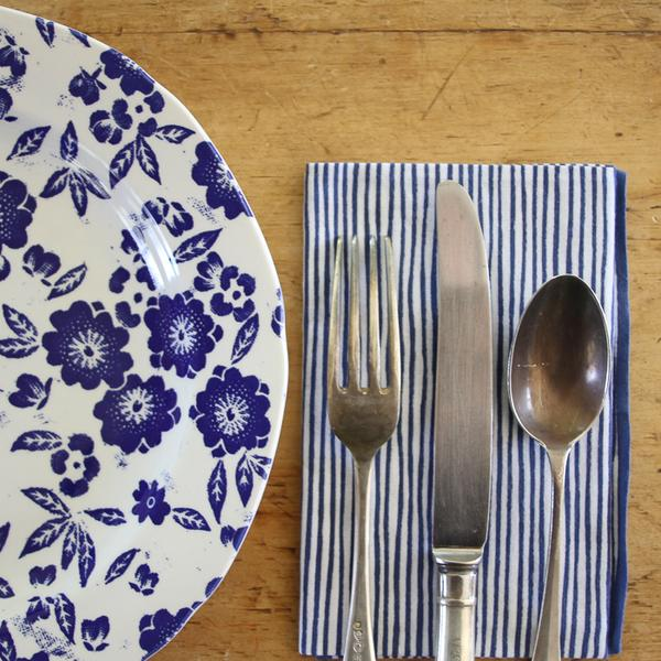 blue and white stripes Japanese Dish Towel - tenugui