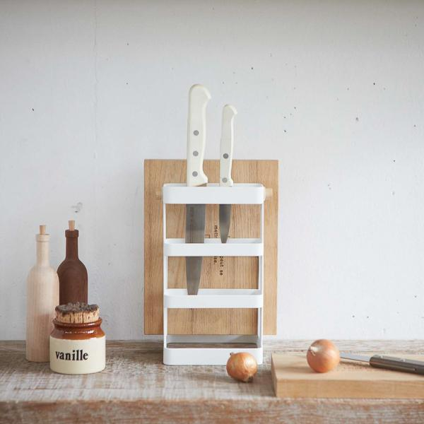 Knife and cutting board stand