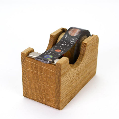 Wooden Oak Tape Dispenser