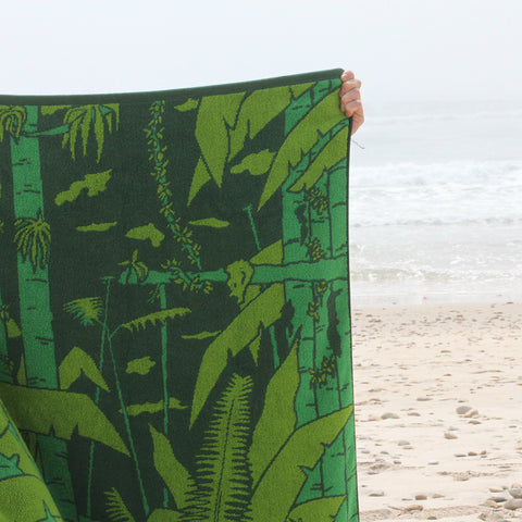 Papat Beach Towel. Jungle. Made in USA.