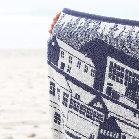 Papat Beach Towel. Harbor Village. Made in USA.