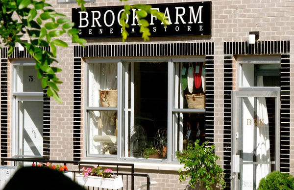 Brook Farm General Store storefront window