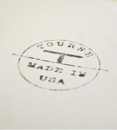 Tourne made in USA stamp. Brook Farm General Store