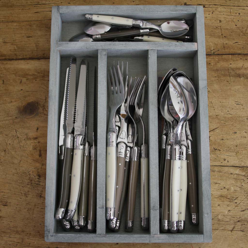 24 Piece Flatware Set - Linen