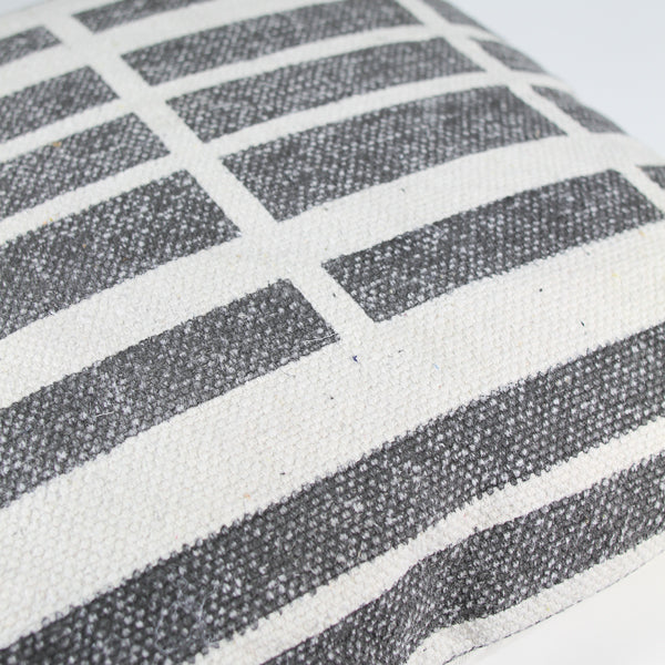 Block Print Cushion - Lines