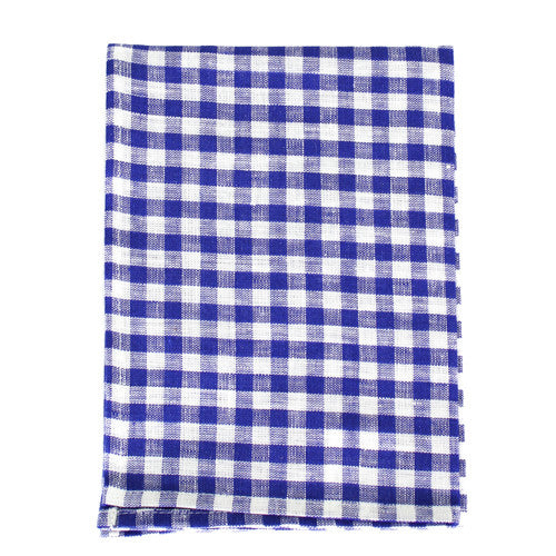 Blue Checked Dish Towel