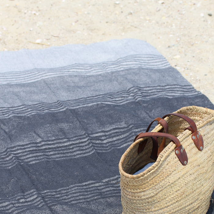 Cotton Beach Throw Blanket - Charcoal