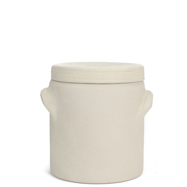 French Stoneware Lidded Jar - Medium