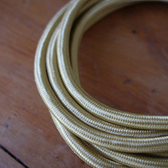 Fabric Extension Cord - Brass, Color Cord Co.