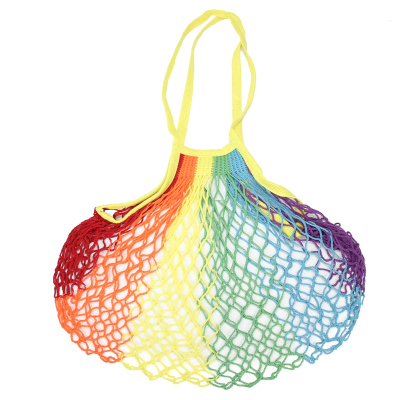 Mini French Grocery Bag - Rainbow