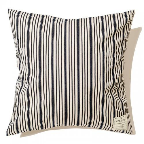 Indigo Striped Cushion