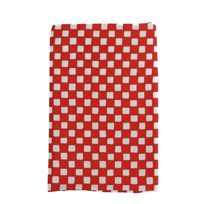 Japanese Dish Towel - Red check