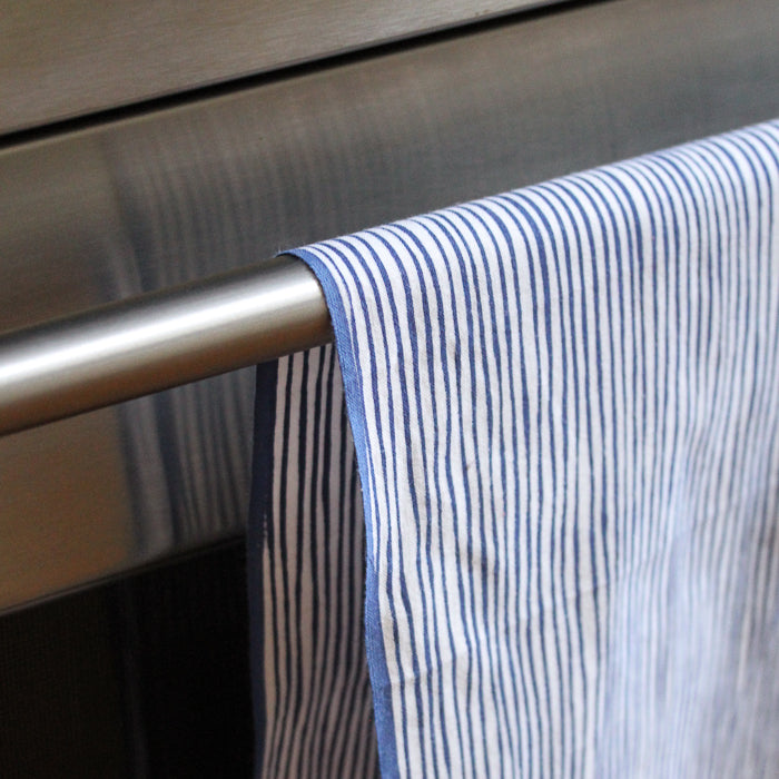 Japanese Dish Towel - Blue & White Stripes