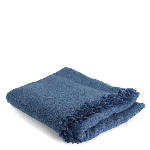 Light Indigo Throw Blanket
