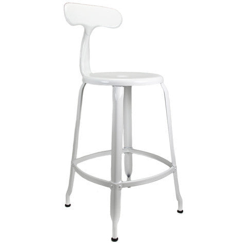 nicolle counter stool glossy white