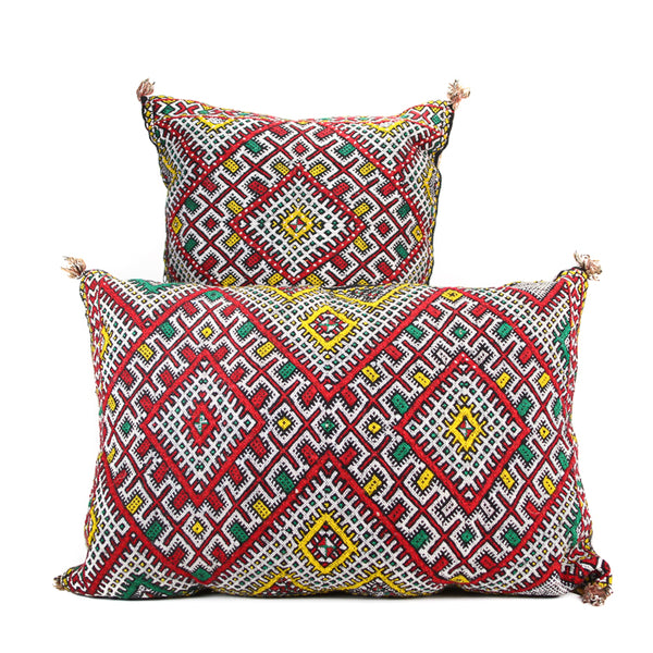 Pair of Vintage Moroccan Pillows - 001
