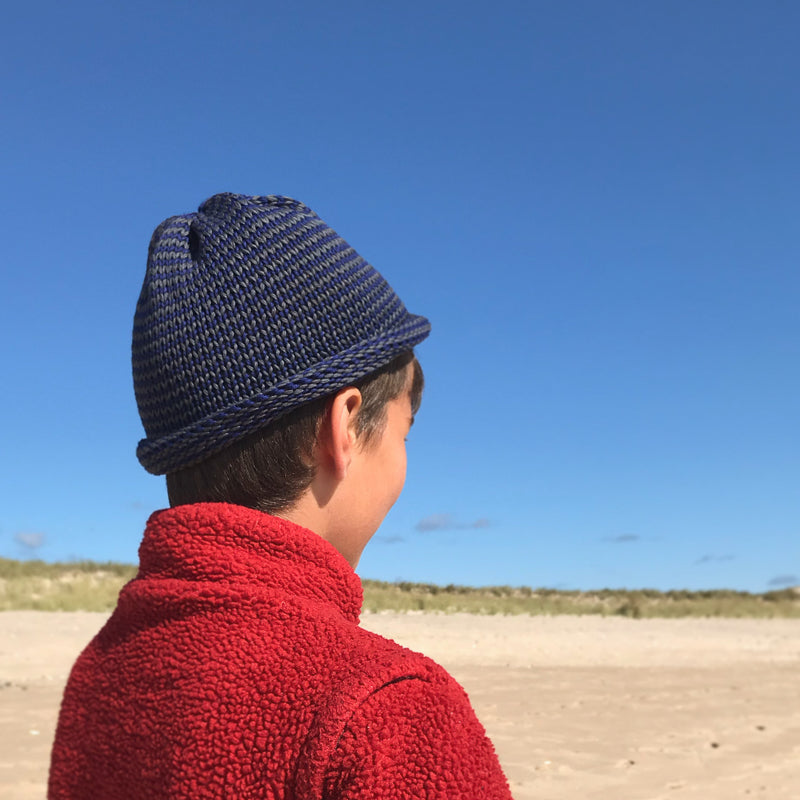 Papat Castine Cotton Hat - Inky Stripes