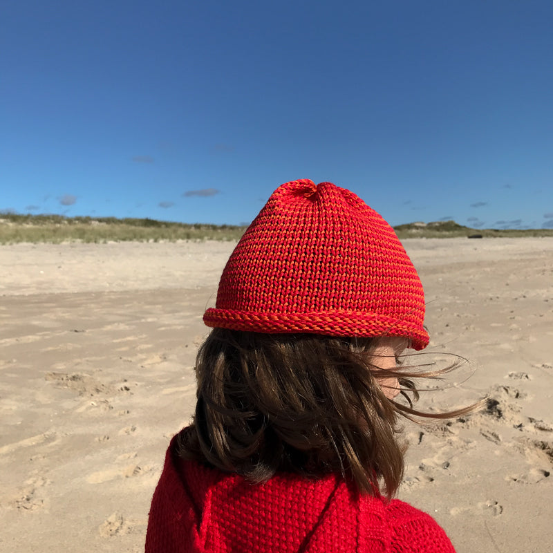 Papat Castine Cotton Hat - Red Stripes