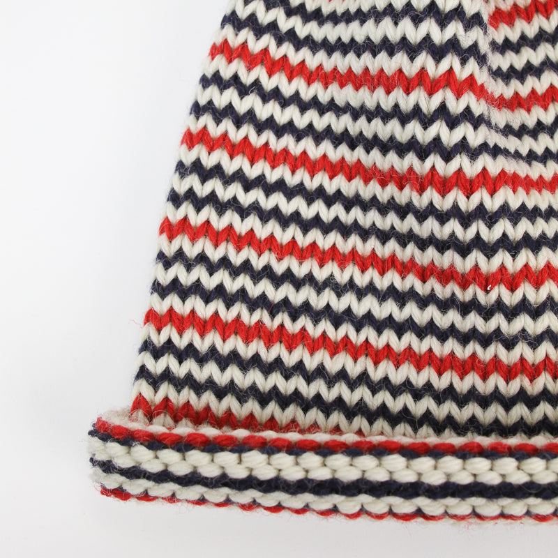 Papat Castine Hat - Red, White and Blue Stripes