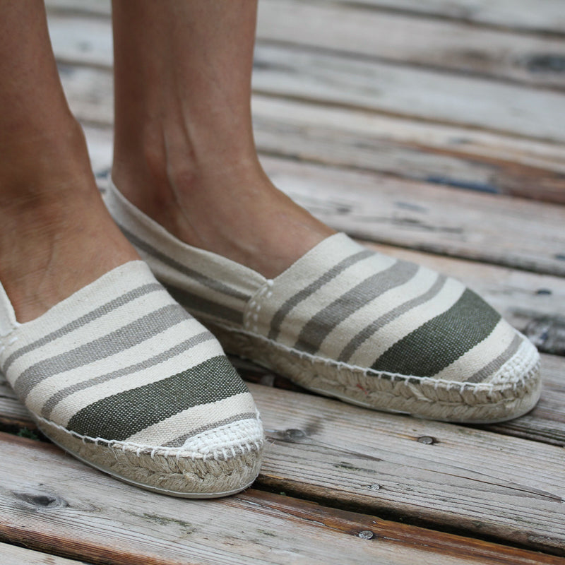 Papat Espadrilles - Cream Stripes