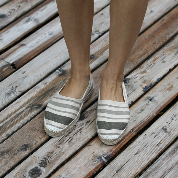 Espadrilles made in France. Classic Cream Stripes