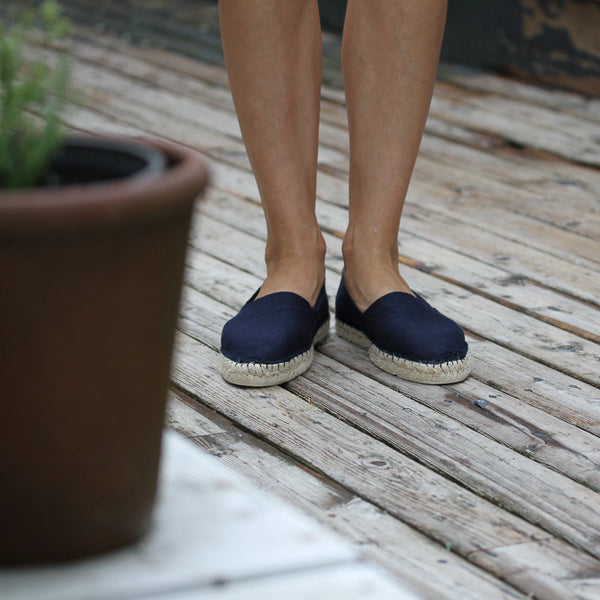 Espadrilles Navy blue. Made in France
