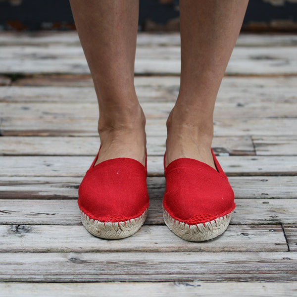 espadrilles Made in France. classic Red.
