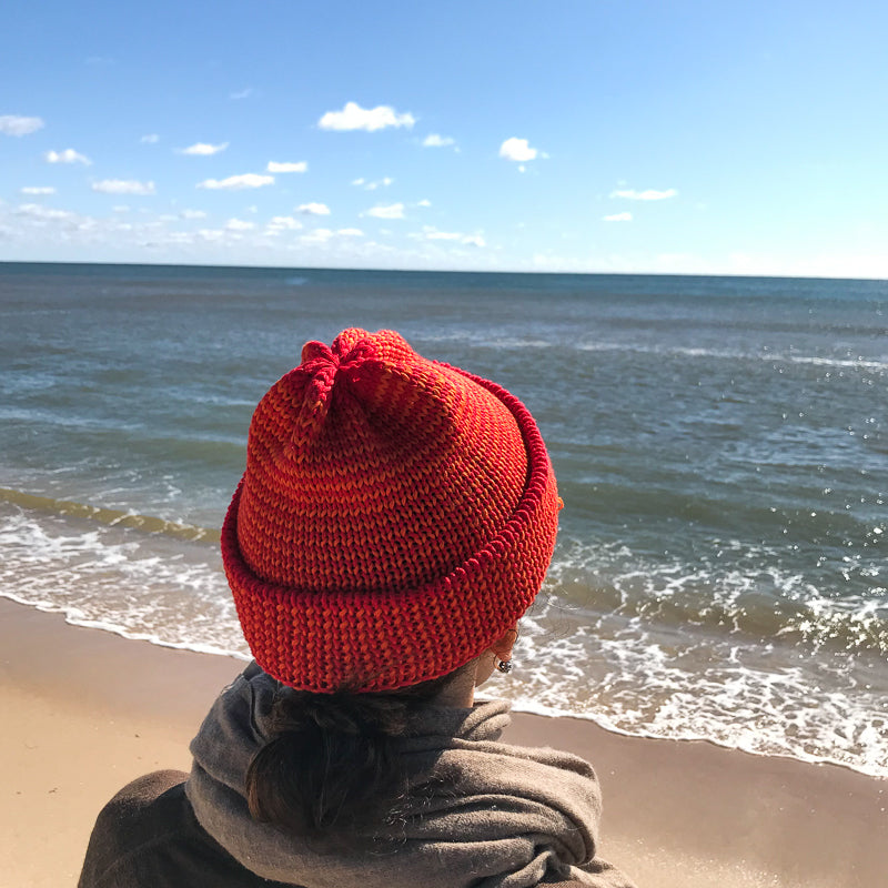 Papat Fisherman Cotton Hat - Red Stripes