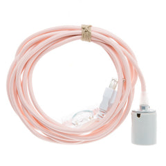 Porcelain Pendant Light Cord Set - Quartz, Color Cord Co.