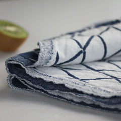 Scandinavian Dish Towel - Indigo Diamonds