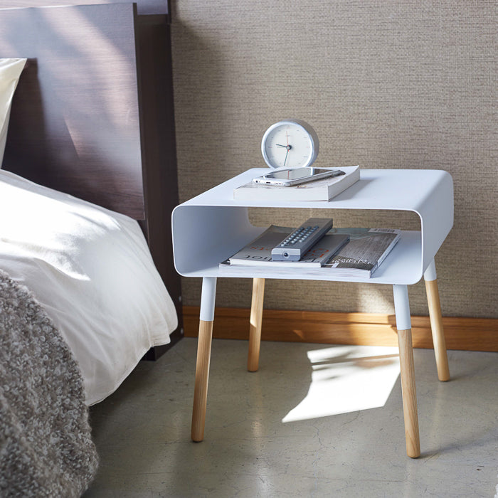 Side Table with Storage Shelf