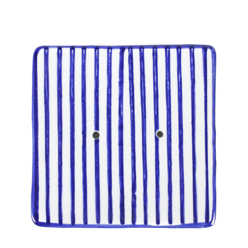 Square Soap Dish - Stripes