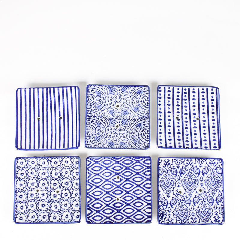 Square Soap Dish - Dots & Dashes