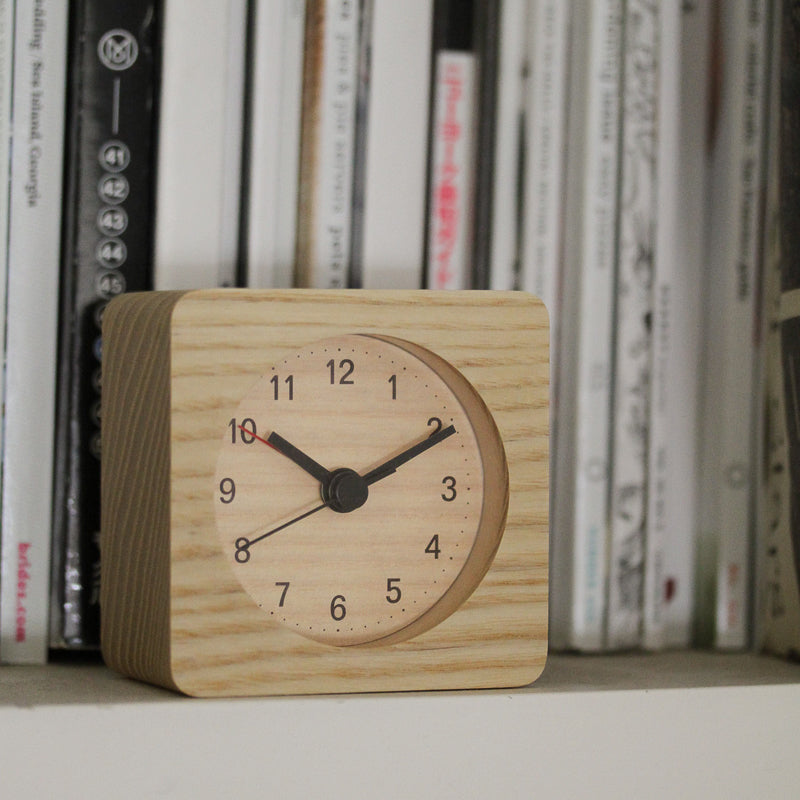 Square Wooden Alarm Clock