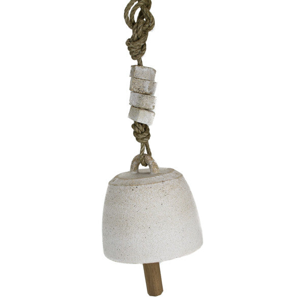 Stoneware Bell with Beads