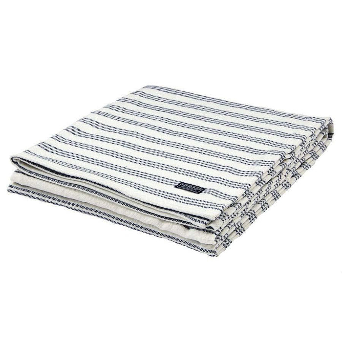 Striped Cotton Throw - Blue